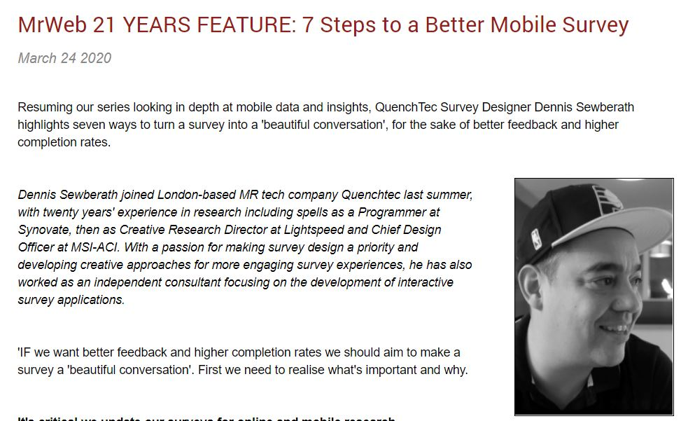 7 Steps to a Better Mobile Survey